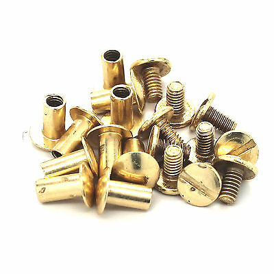 "Antique Brass Binder Post 3//8/"" Steel Chicago Screws 10 Pack 1291-15"