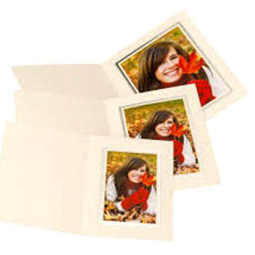 8x6 10x8 7x5 KENRO Slip-in IVORY Quality Presentation Folder Mounts 6x4