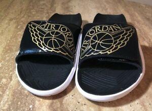 697ffb8ed5ef7b Nike Air Jordan Hydro VII 7 Slides Sandals White Gold-White AA2517 ...