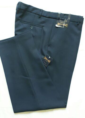 Nouveau Carabou bleu marine Expand-A-Bande Pantalon 44 in à 54 in environ 111.76 cm à la taille environ 137.16 cm