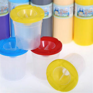 1pc-Plastic-Non-Spill-Water-Cup-Paint-Pot-amp-Stopper-Lid-for-Kids-Art-Painting