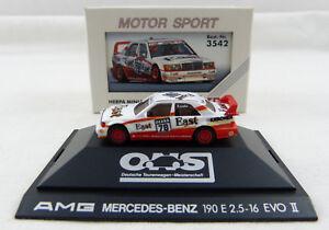 Mercedes-Benz-AMG-190-E-034-East-78-034-Herpa-3542-in-PC-Vitrine-1-87-H0-OVP-K1