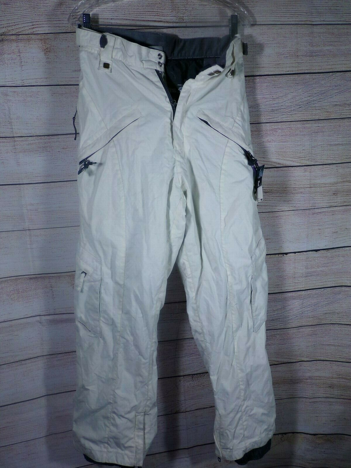 RIDE Snowboards Men's Cream Snowboard Pants Size Small