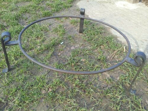 70cm Diameter Indian Kadai Fire Bowl Set Handmade from recycled steel sections