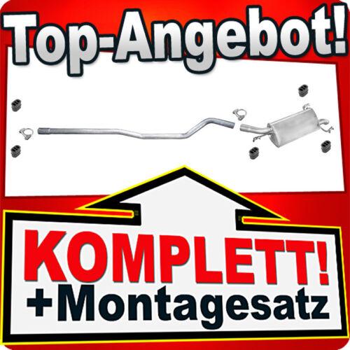 Auspuff OPEL CORSA C 1.7 DI DTI 65//75PS 2000-2003 Auspuffanlage 962