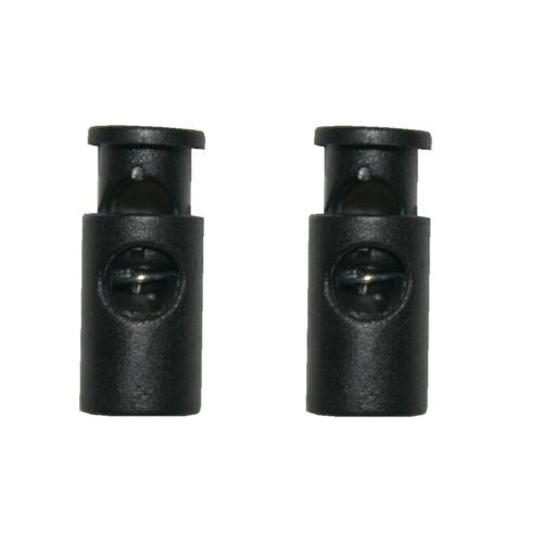 0134 Kordelstopper Kordelklemme 1 Loch schwarz 2 Stück