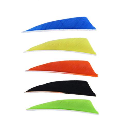 "50pcs 3/"" Arrow Feathers 12 Color Turkey Feather Archery Arrow Accessorie LDBJ"