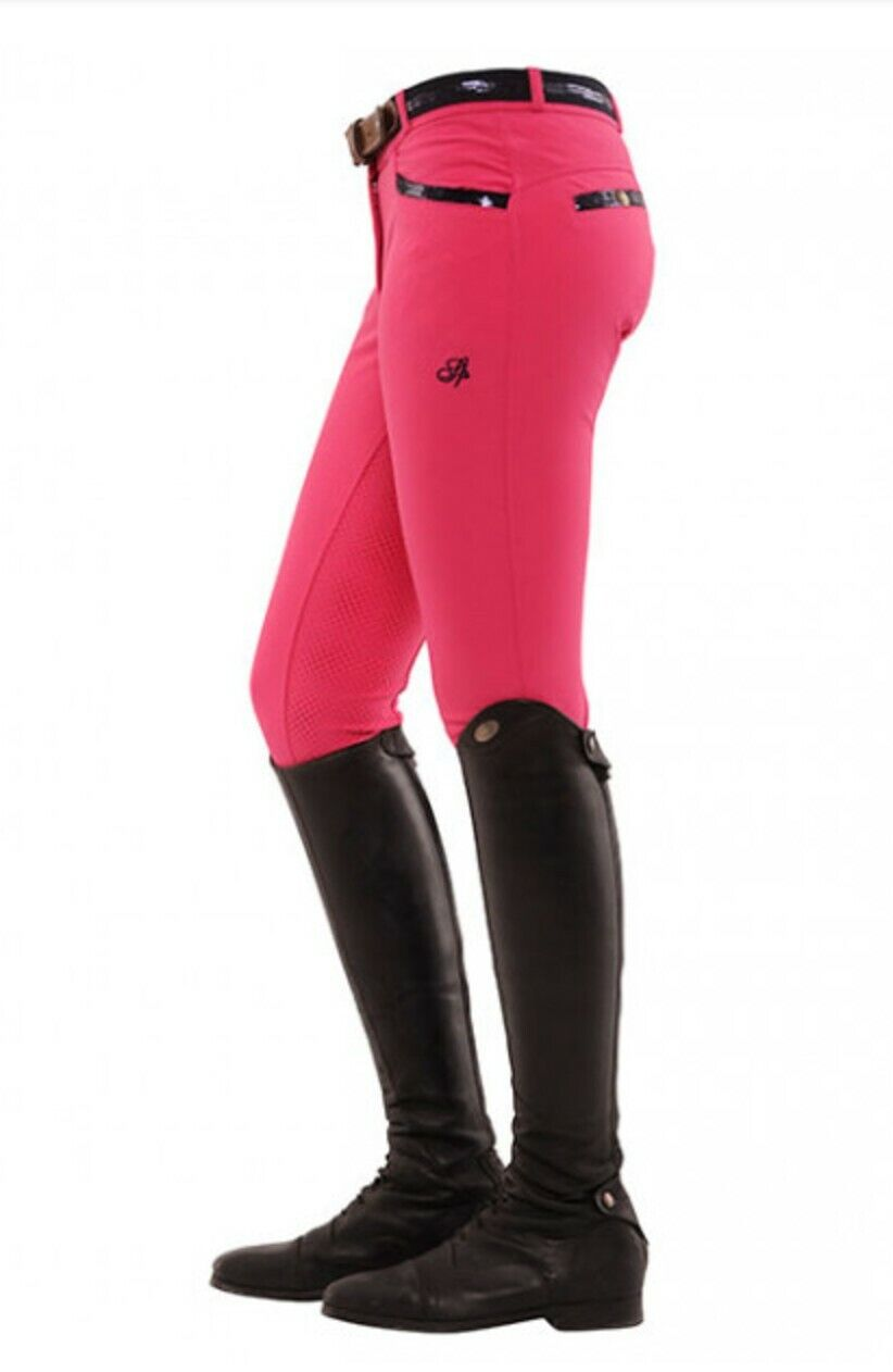 Spooks Ricarda Full  Grip Sequin Breech - Pink - UK XS  factory direct and quick delivery
