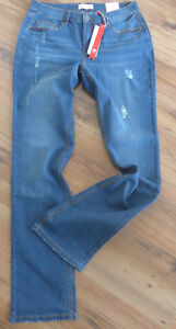 Sheego-Stretch-Jeans-Ladies-Size-40-Long-Size-80-Blue-Aufrauung-049