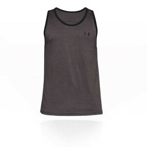 6356cf49 Details about Under Armour Mens Tech Tank Top Grey Sports Gym Running