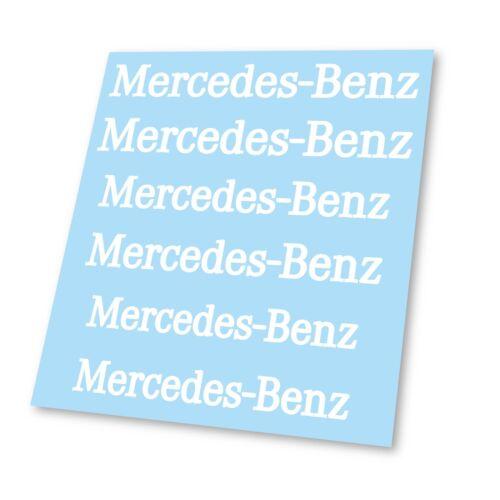 x6 Premium Mercedes Benz AMG Logo Badge Hi Temp Brake Caliper Stickers Decals