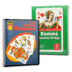 Canasta Romme Bridge Mau-Mau Karten Kartenspiel Spielkarten 2 x 55 Rommekarten