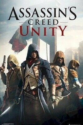Assasin/'s Creed Unity Poster A4 A3 A2 A1 A0 Gift Present SS0791