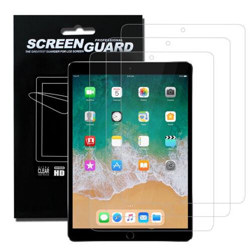 """3-Pack Clear Screen Protector Protective Film For iPad 9.7/"""" 10.5/"""" 12.9/"""" 2018"""