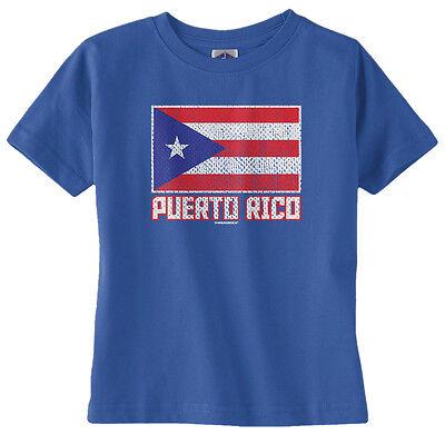 Threadrock Baby Team Puerto Rico Infant T-shirt Baseball Pride Script