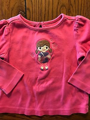 Gymboree NWT Cute As A Mouse Pink Faux Kimono Wrap Top