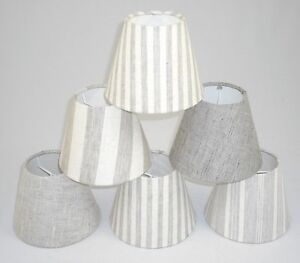 Candle lampshades handmade in uk linen fabric ebay image is loading candle lampshades handmade in uk linen fabric aloadofball Image collections
