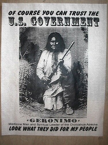 """GOVERNMENT 11/""""x14/"""" NOVELTY POSTER AMERICAN INDIAN GERONIMO U.S 143L"""