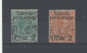 Italy 1890 Parcel Post stamps FU CDS