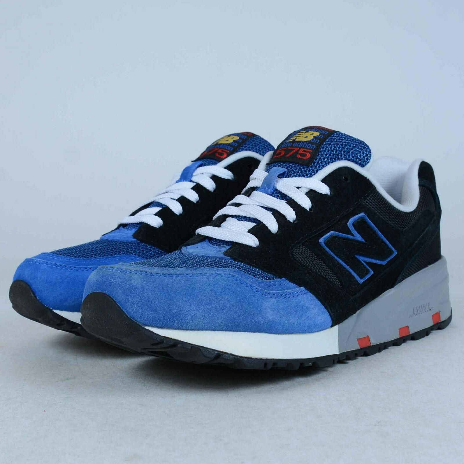 NEW BALANCE MD575EBB RUNNING SNEAKER BLUE BLACK SZ 8 DAMAGED DISPLAY