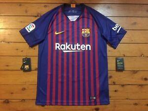 pretty nice 89ca1 8d32f Details about BARCELONA 2018/2019 MESSI #10 NIKE ORIGINAL BNWT HOME SHIRT  JERSEY LARGE
