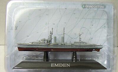 "Kriegsmarine 1925 1:1250 Atlas Fertigmodell Leichter Kreuzer /""Emden/"" Neu"