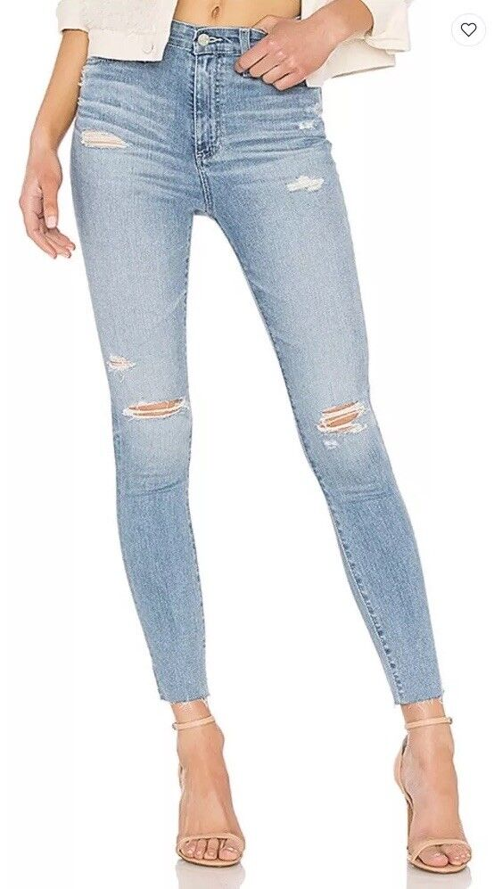 NWT  235 AG Adriano goldschmied Mila Ankle Jeans Super High Rise Skinny Size 30