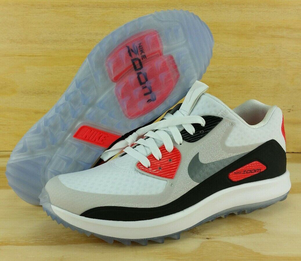 NIKE AIR ZOOM 90 IT GOLF SHOES Sz 8 WHITE GREY INFRARED 844569 101 RORY MCILROY The most popular shoes for men and women