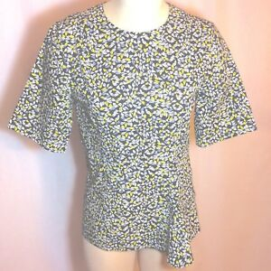 NWOT-790-Marni-Short-Sleeve-Graphic-Floral-Italian-Cotton-Print-Top-IT-40-US-4