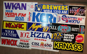 25 VINTAGE RADIO STATION STICKERS RRRRRR