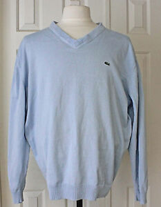 Lacoste Baby Blue V Neck Pull Over Sweater Womens Size 8 Ebay