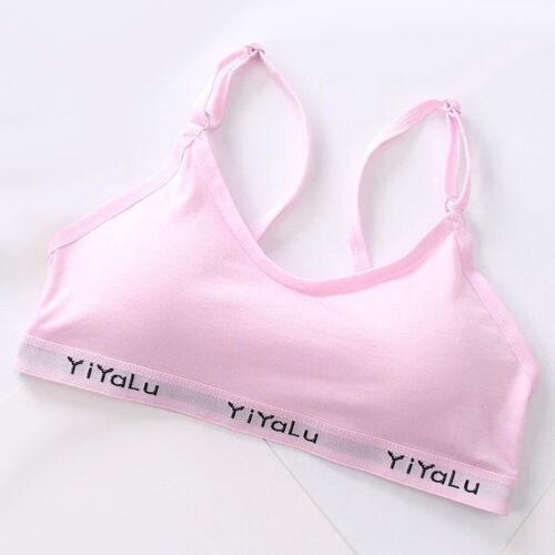 Cotton Bra Girl Training Bra Teenage Kids Soft Cotton Breathable Sport Underwear