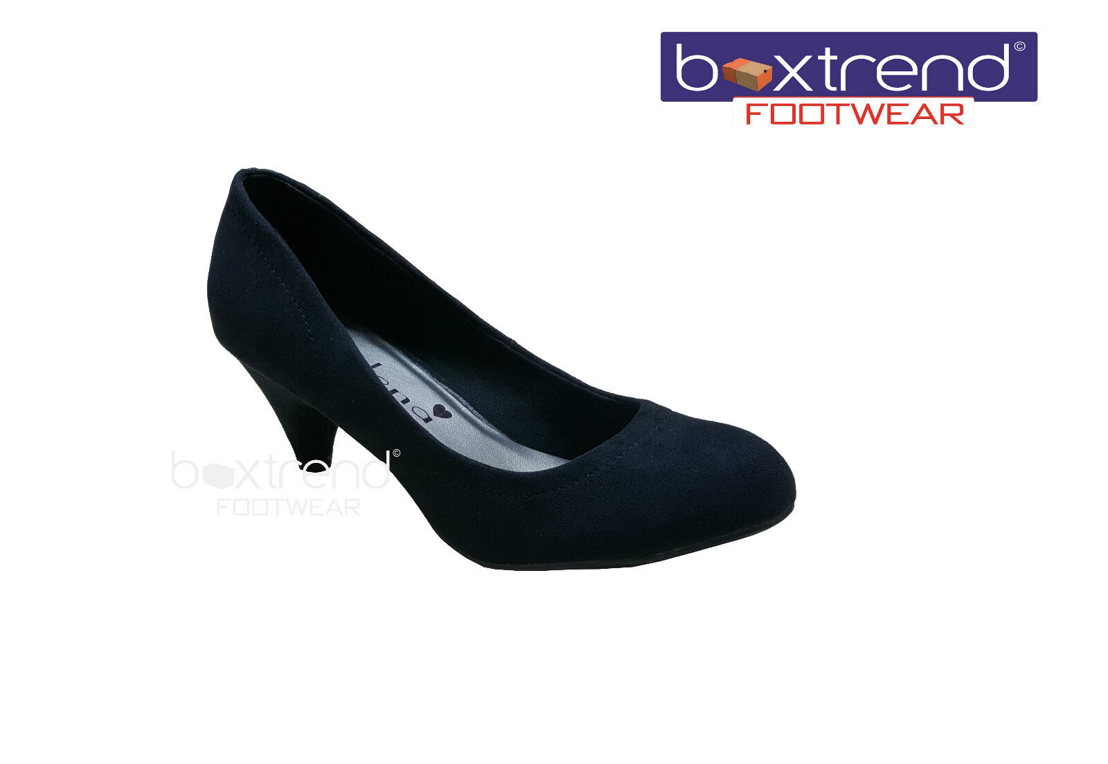 NEW WOMENS HEELS LADIES STYLISH SUEDE MID HEELS WOMENS BLACK OFFICE PARTY WEDDING COURT SHOES 9d6023