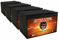 Qty 4 Interstate Batteries Bsl1105 Vmax64 Agm Vrla 12v 15ah Ea Scooter Battery