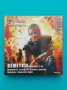 Perry-Rhodan-ACTION-Demetria-6-MP3-CDs-Episode-1-12-ungek-Lesung-41h-LZ-NEU