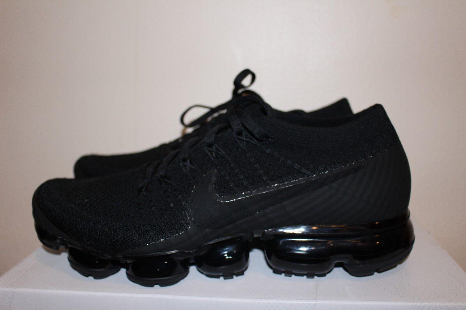 Nike Air VaporMax Flyknit TRIPLE BLACK NOIRE 849558-011 SIZE 8-13