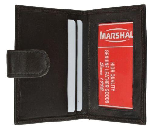 Leather 3 Credit Card /& ID Holder Slim leather Men/'s Wallet