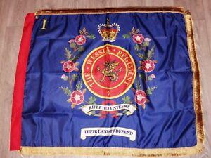 TheKing/'s Own Royal Border Regiment  1st Bn Regimental colours flag