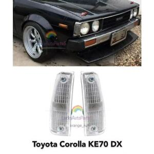 Toyota Corolla KE70 E70 TE71 DX Corner Indicator Lamp Lights 1 Pairs 1979-1983