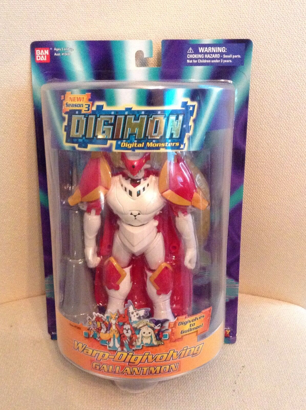 Digimon Temporada 3 warp-digivolving Gallantmon Figura-Raro