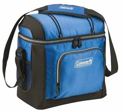 16 Can Cooler Lunch Bag Picnic Travel Drink Beer Beverage Lunch Tote Bucket Blue
