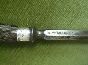 RARE ANTIQUE SHOOTING STEEL GAME SKEWER BY T. TURNER & CO. SILVER MOUNTS 1905