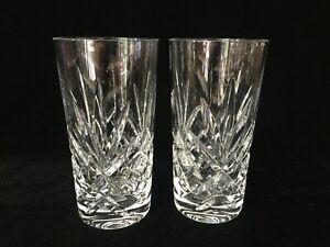 Pair-Gorham-Crystal-Monte-Carlo-Highball-Glasses-5-3-4-034-Tall-x-2-3-4-034-Diameter