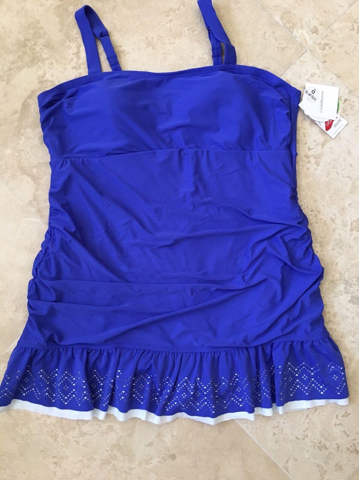 NEW Croft & Barrow Women's Plus One Piece Swimsuit Swim Swim Swim Dress bluee Size 24W c14169