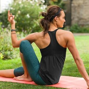 NWT Athleta Small 4 6 RETREAT TANK Black Racerback Support Yoga Gym Top S $59