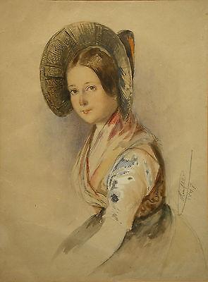 Mathias Johann RANFTL (1805-1854) Junge Frau mit Trachtenhaube
