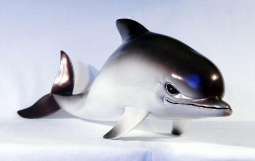 """Hand Painted 18/"""" Dolphin Replica Statue Figurine Sculpture 317B Gray"""