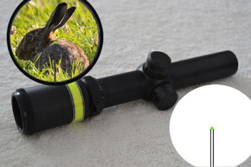 1.5-6x24 Fiber Optic Scope Grün Triangle illuminated Reticle + 20mm mounts