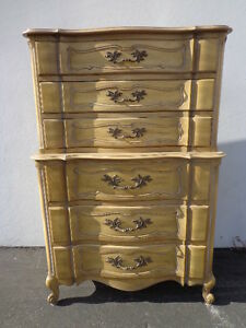 French Provincial Rococo Dresser Chest Drawers Bombe