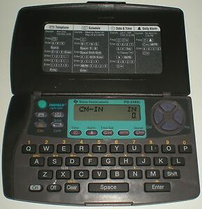 CALCULATOR ELECTRONIC ROYAL TI TEXAS INSTRUMENTS PS2460i DATABANK PHONE CLOCK